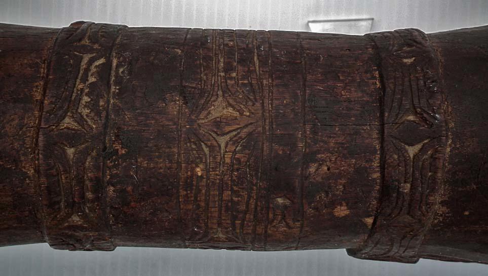 Antique Papua New Guinea Ceremonial wooden Drum Kundu Tifa