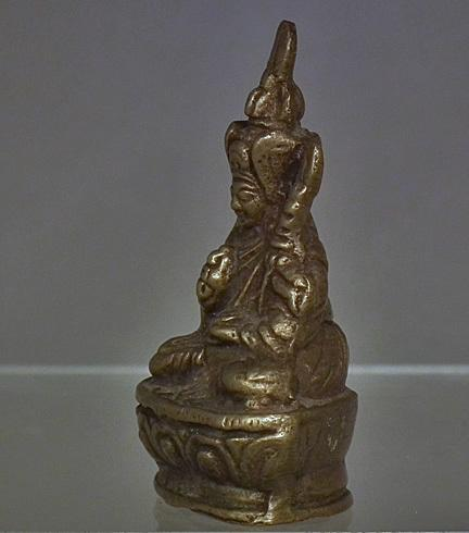 Antique 19th c Tibetan Copper Alloy Figure of Lama