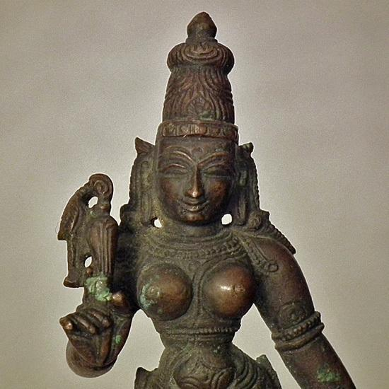 Antique bronze Figure Indian Hindu Parvati Meenakshi 15th-18th c India