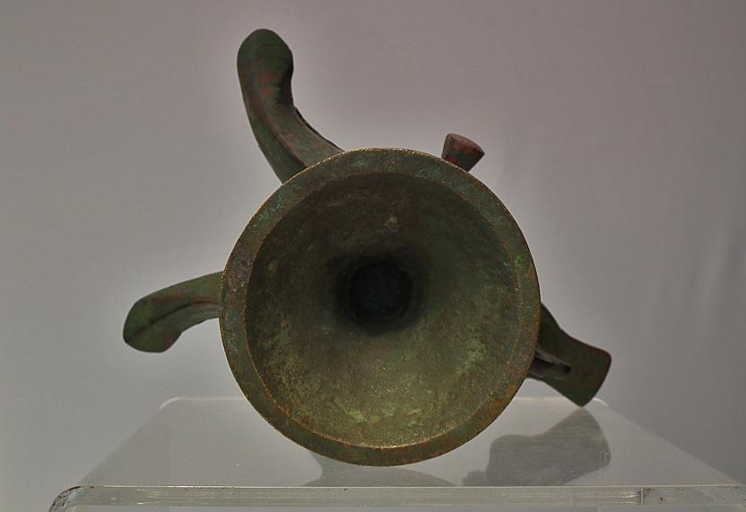 Antique Medieval Islamic Double-Wicked Bronze Oil Lamp Khorasan Seljuk Seljuq 12th C