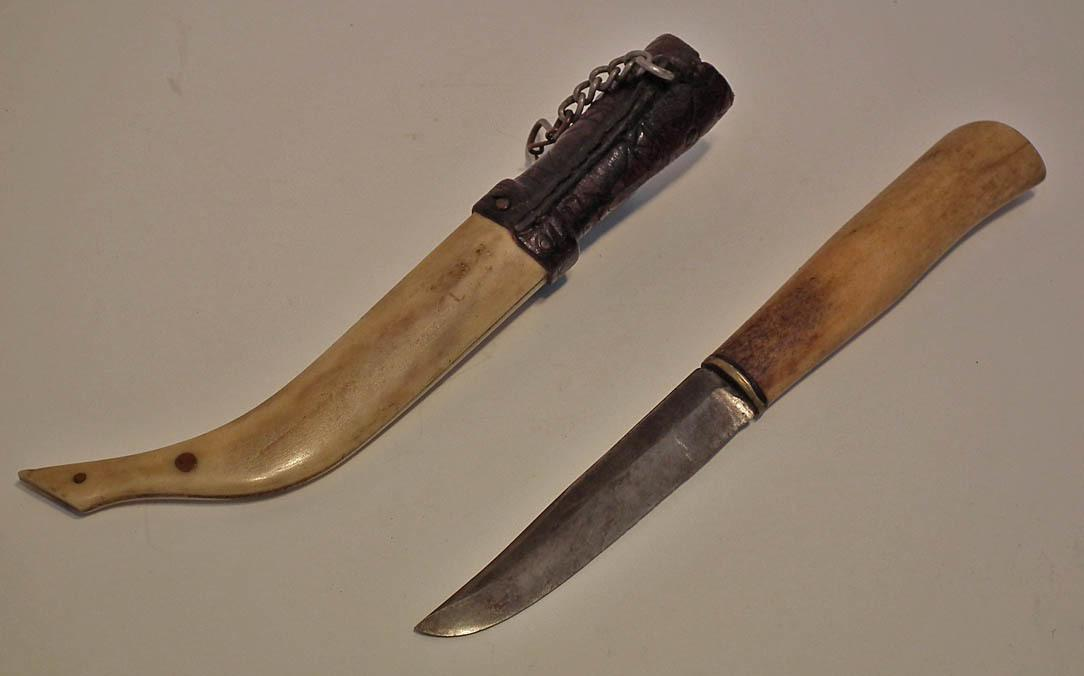 Superb Quality Antique Scrimshaw Finnish Knife Puukko