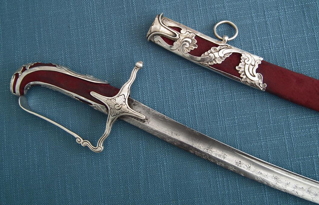 Antique 18th century Silver Mounted Hungarian Aristocrat Hussar Sword
