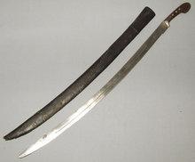 ANTIQUE, CENTRAL ASIAN, ISLAMIC SWORD SHASHKA, 18th-19th century