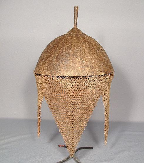 AANTIQUE INDO PERSIAN HELMET KULAH KHUD, 18th century