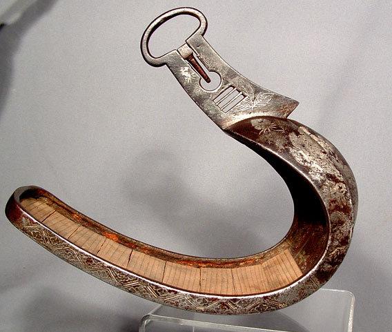 Antique Japanese Samurai Armor Stirrup Abumi