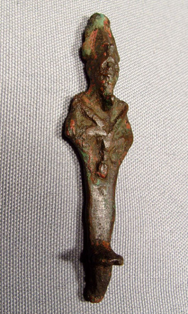 Ancient Egyptian Bronze Figure of Osiris,