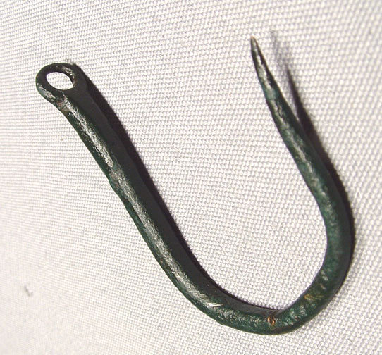Ancient Greek Fishermen Bronze Fish Hook,