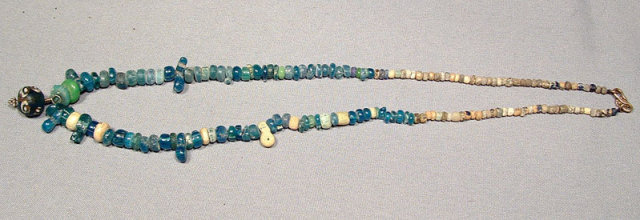 SOLD Ancient Roman Glass Beads Necklace, 2nd-3rd