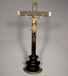 Antique 17th century Baroque Crucifix Cross