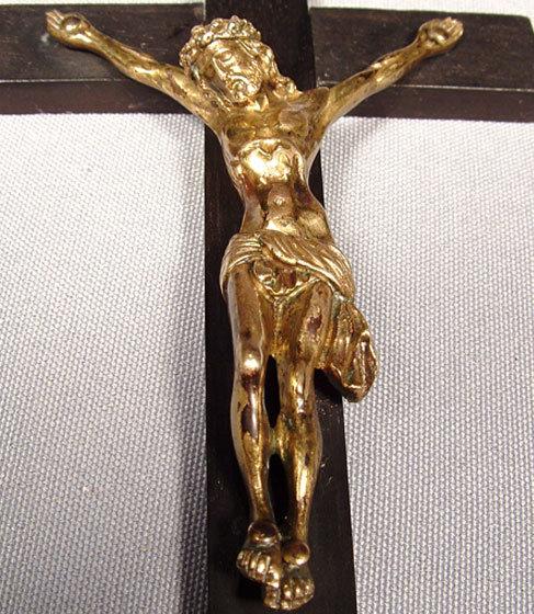 Antique Spanish Crucifix, Baroque, 17th Century