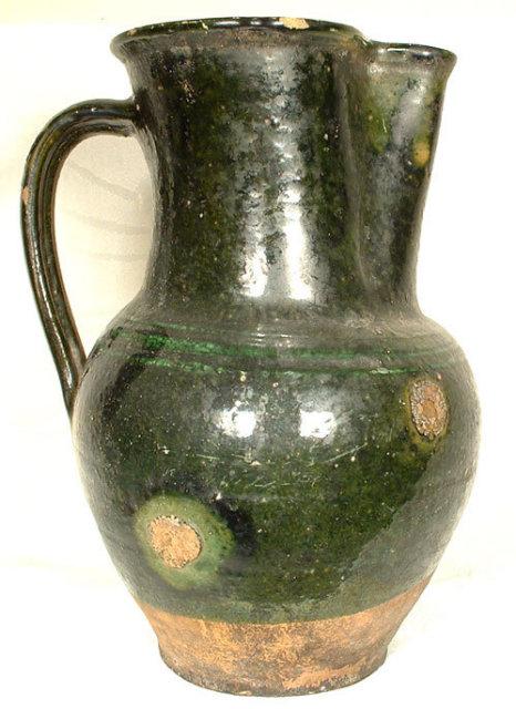 Antique Ceramic Wine Jug, Europe 17th-18th century