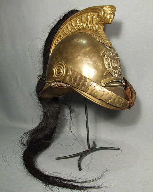 Antique French Cuirassier's Helmet, 19th century