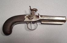 Antique Gun Percussion Pistol by John Evans, 19th Century