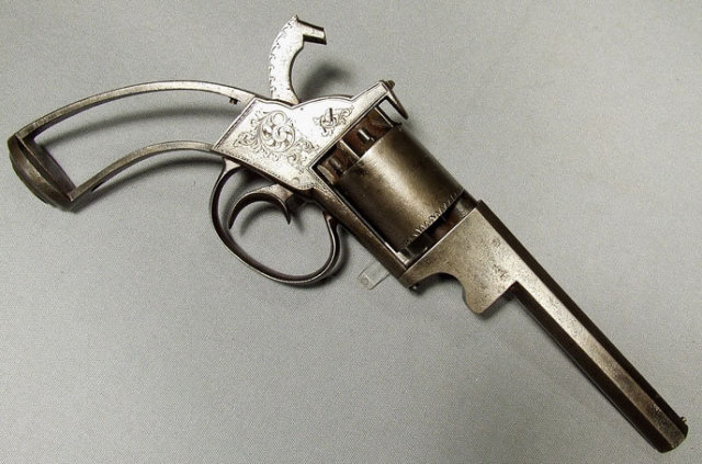Antique Gun Percussion Revolver by  Bate