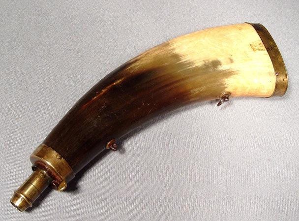 Antique Gun Powder  Horn Flask