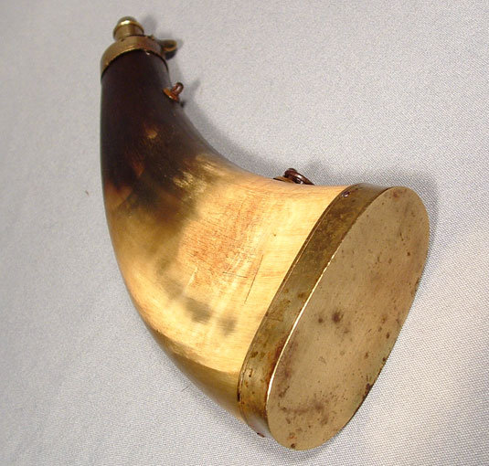 Antique Gun Powder  Horn Flask
