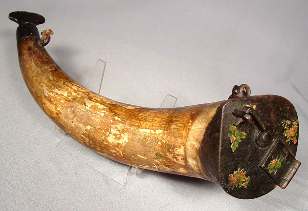 Antique Russian Cossack's Gun Powder Horn