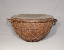 Antique Turkish Ottoman Military Kettle Drum
