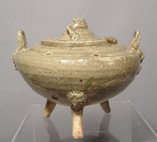 Antique Chinese Liao Dynasty Celadon Censer