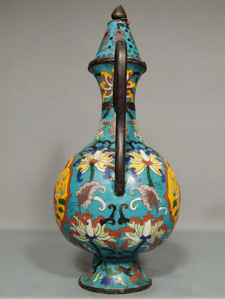 Antique Chinese Tibetan Cloisonne Ewer