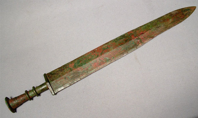 Ancient Chinese Sword, Warring States Bronze Sword