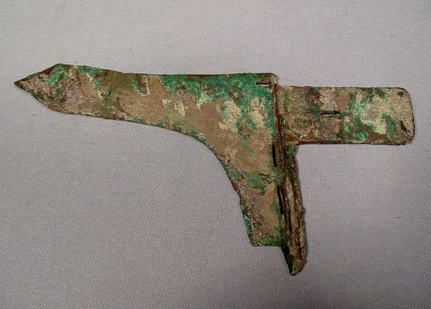 Antique Chinese Zhou Dynasty Bronze Axe