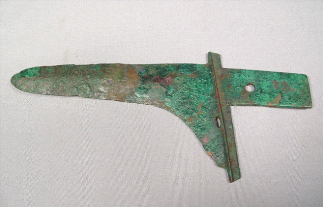 Antique Chinese Zhou Dynasty Bronze Axe Ge