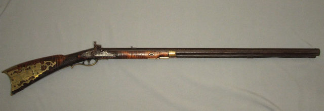 Antique American Percussion Plains Rifle Gun