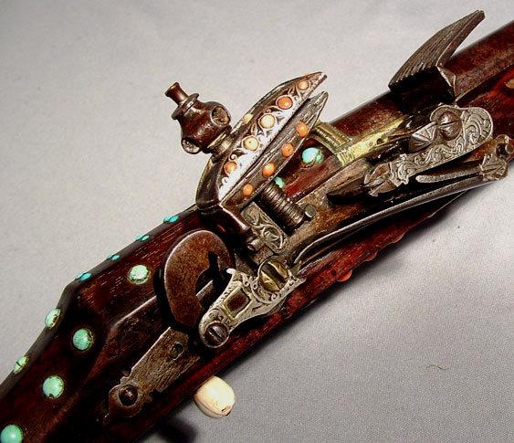 Antique Gun Turkish Ottoman  Islamic Flintlock