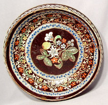 ANTIQUE EUROPEAN CERAMIC DISH, 18TH CENTURY