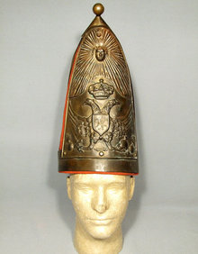 Antique Imperial Russian Napoleonic Helmet Grenadier Mitre