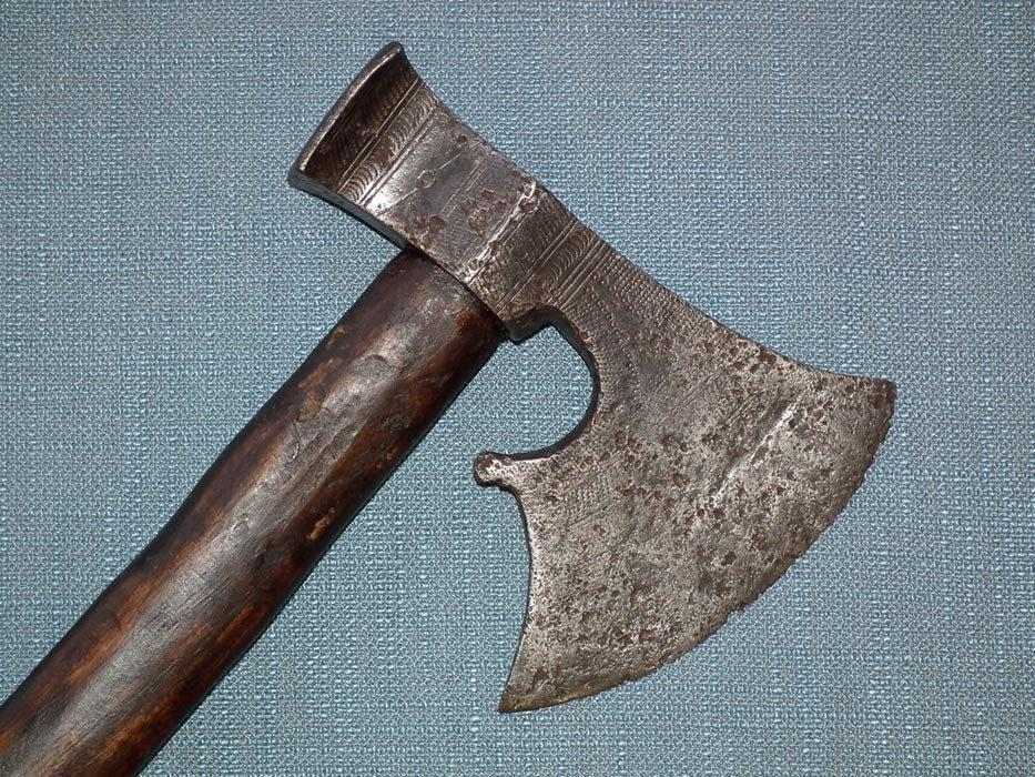 Rare Antique 16th - 17th Century Polish - Hungarian Czekan Battle Axe