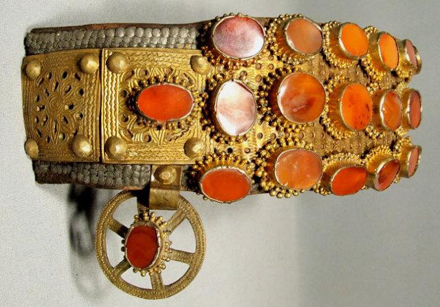 Antique 18th century Turkish Ottoman Belt for Sword Yatagan