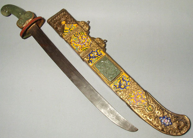 Antique Chinese Cloisonné Sword Dao, 19th century