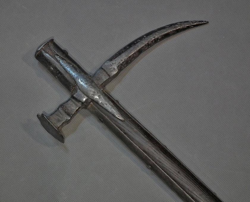 Antique late 16th - 17th Polish - Hungarian Huge War Hammer Nadziak