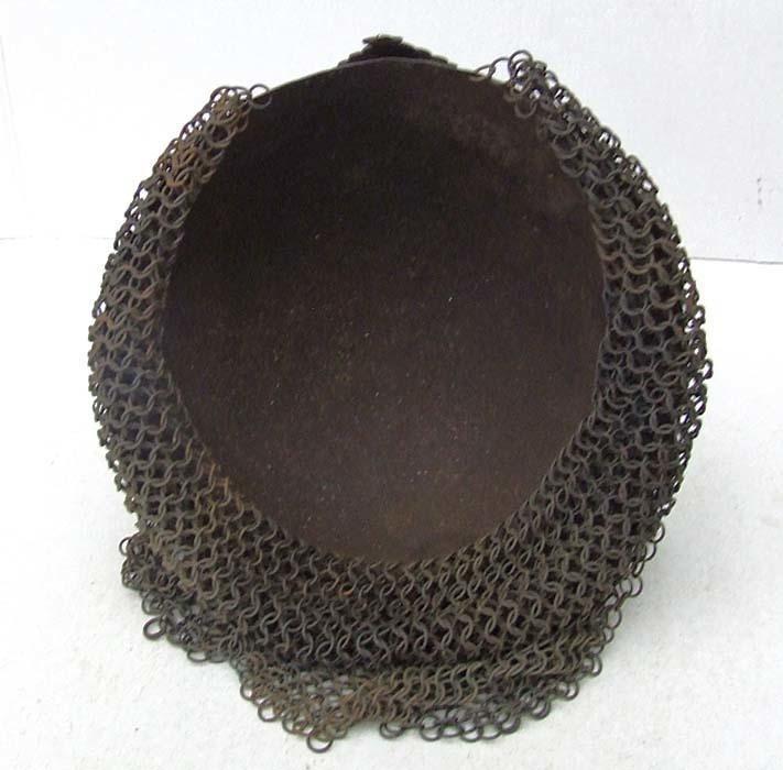 Antique 18th Century Islamic Mughal India Indo Persian Helmet Kulah-Khud