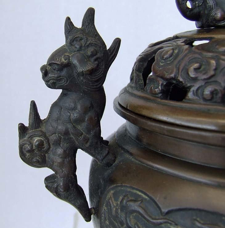 Antique Chinese Qing Dynasty 17th -19th Century Bronze Incense Burner Censer