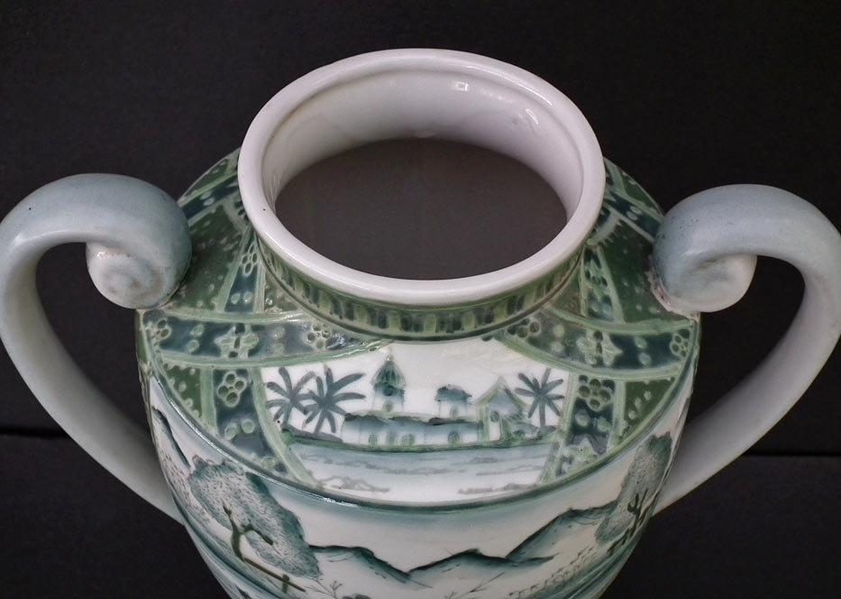 Antique 19th Century Chinese Porcelain Vase In European Style Qianlong Mark