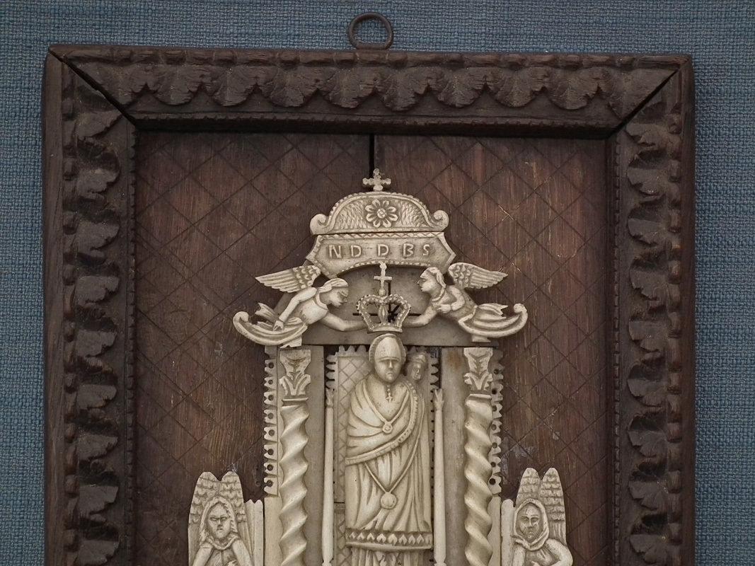 Antique 17th-18th Century Indo – Portuguese Relief Our Lady of Loreto Goa India
