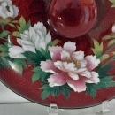 Antique Japanese Signed Ginbari Cloisonné Enamel Akasuke Footed Bowl With Lid