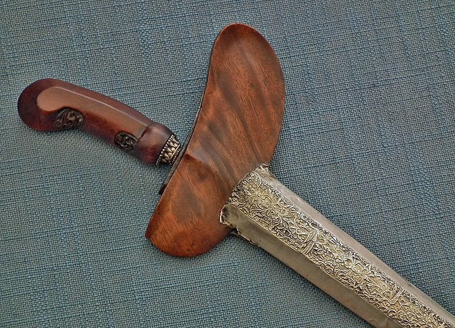 Antique Indonesian Javanese Islamic Short Sword Dagger Kris Keris