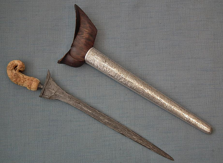 Antique Indonesian-Java Islamic Sword Dagger Madura Donoriko Kris Keris