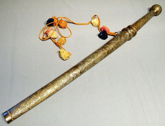 Antique Burmese Sword Dha Dah, 19th century