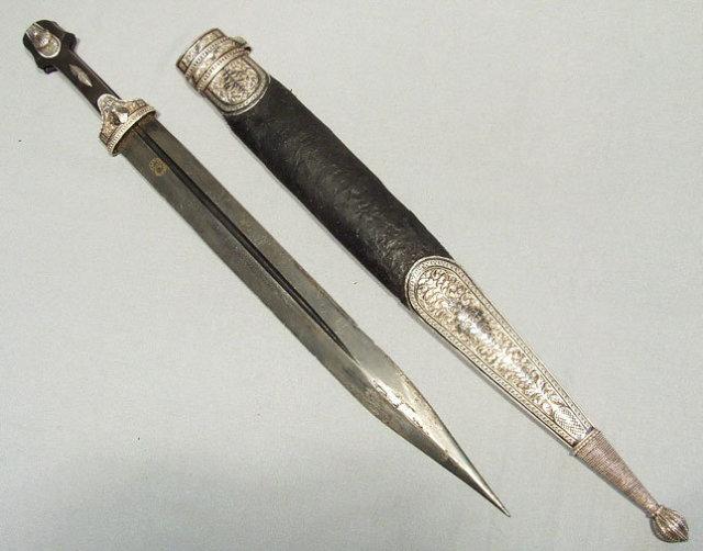 Antique Russian Sword Dagger Kindjal, 19th century