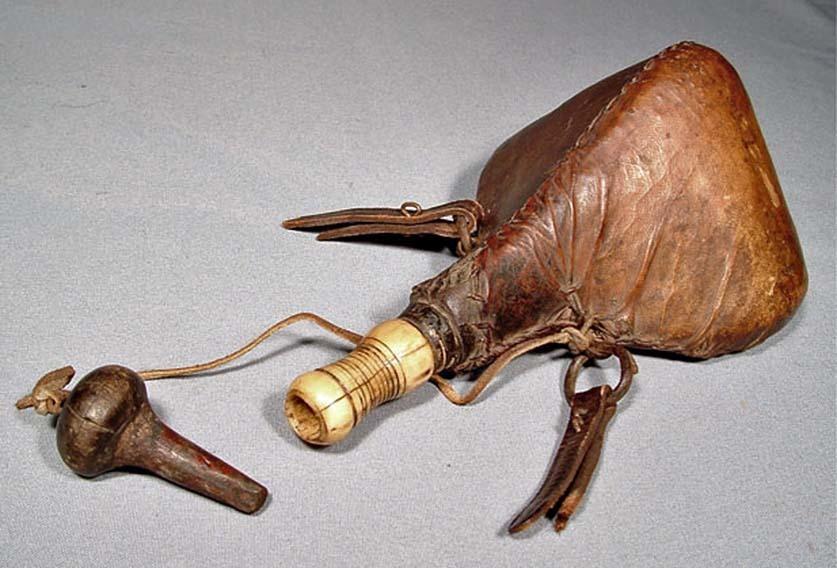 Antique 18th -19th century North African – Maghreb Algeria Morocco Islamic Arab Gun Powder Flask