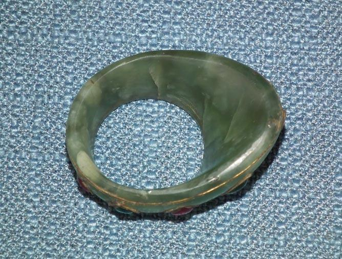 Indo Persian Jade Archer Thumb Ring, Zihgir India