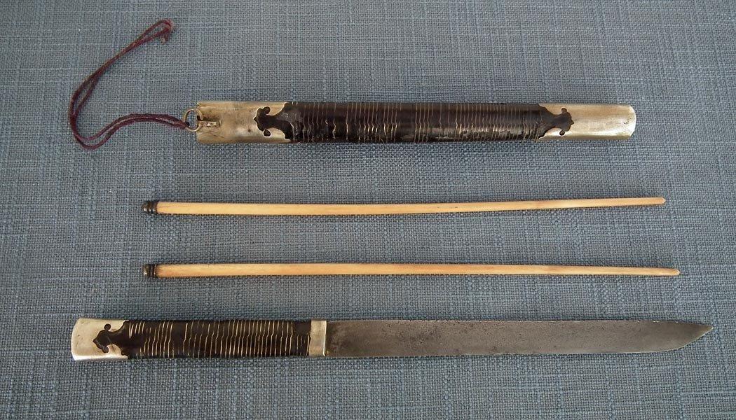 Antique Qing Dynasty Chinese Knife Dagger To Sword Jian & Dao
