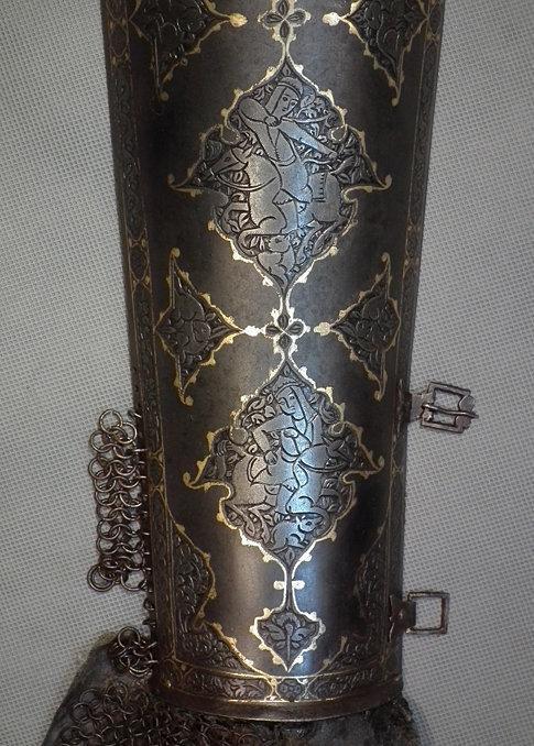 Antique 18th century Indo Persian Islamic Armour Bazuband