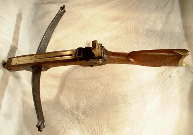 Antique German Hunting Crossbow, 18th Century