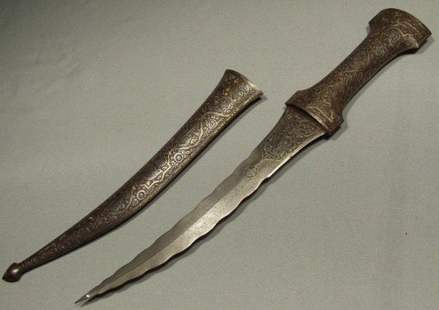 Antique Superb Indo Persian Dagger Jambiya, 18th century